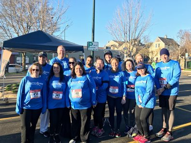 Employees ran to support the Colette A. Miles Foundation and their mission to help people diagnosed with cancer and their families.